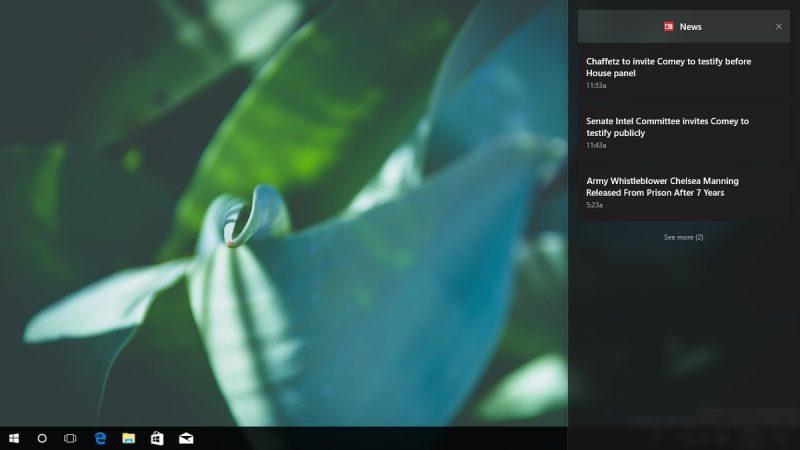 Este es el nuevo Centro de Control que reemplazará al Centro de Acciones en la Fall Creators Update de Windows 10