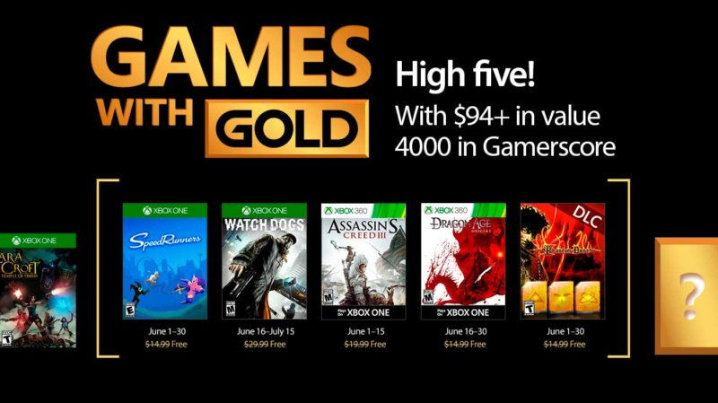 Estos son los Games With Gold del mes de Junio