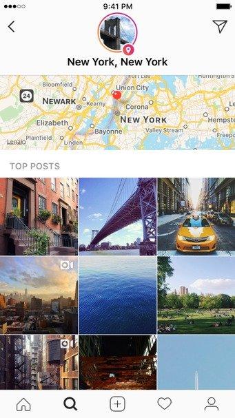 Instagram introduce Historias de Hashtags y Ubicación