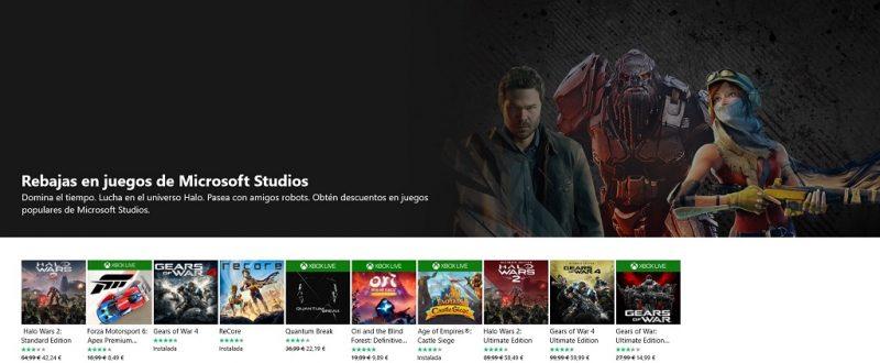 Aún estás a tiempo de hacerte con las Rebajas en juegos de Microsoft Studios