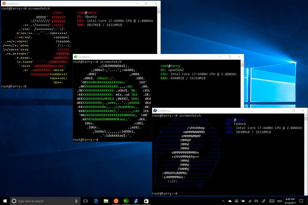 Ubuntu, Fedora y SUSE llegarán a la tienda de Windows 10