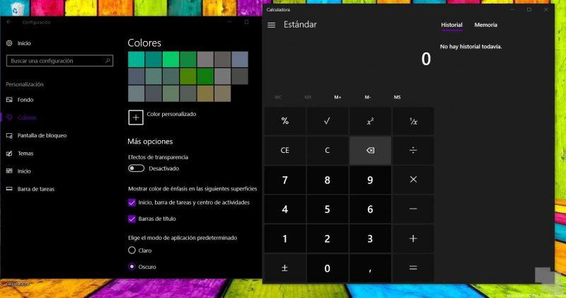 ¿Sabías cómo ... activar o desactivar las transparencias de Neon en Windows 10?