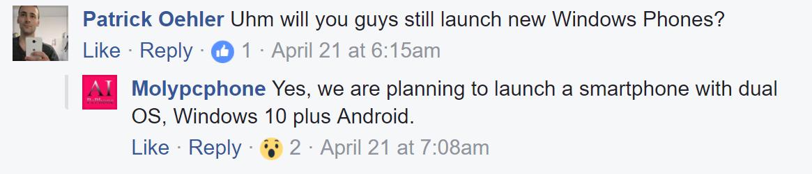 Coship prepara un smartphone dual con Windows 10 y Android