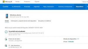 La página de dispositivos de tu cuenta Microsoft, ahora te da mucha más información