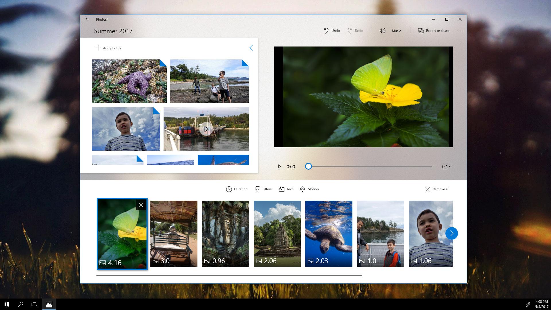 Windows Story Remix, la nueva herramienta de creación multimedia de Microsoft