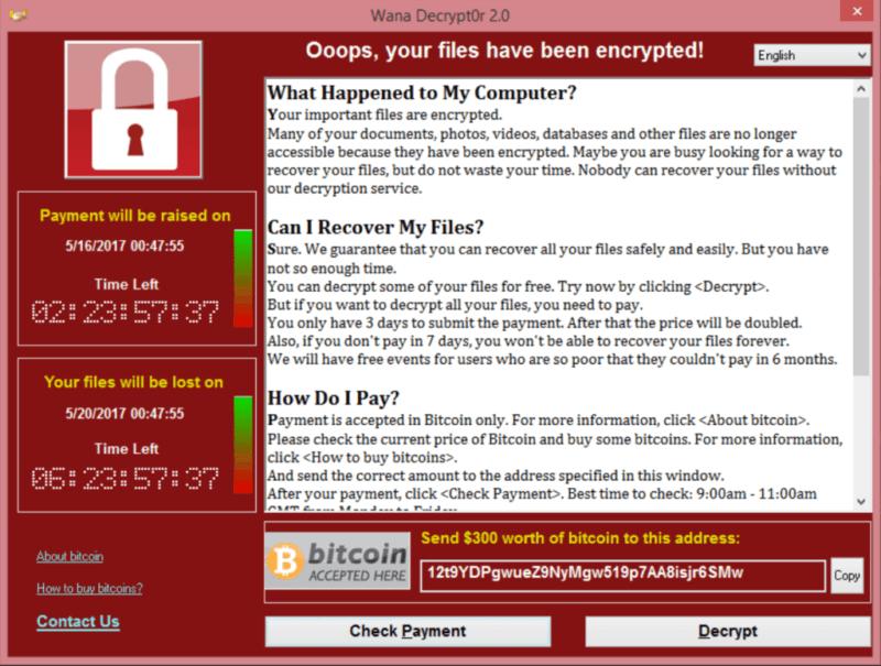 WannaCry, el ransomware que ha afectado a Telefónica y otras empresas por una vulnerabilidad ya parcheada de Windows