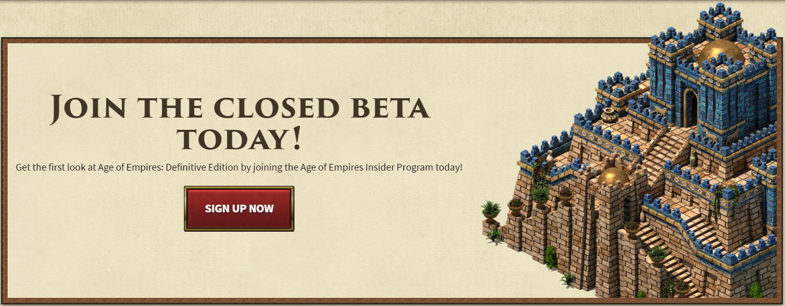 Age of Empires: Definitive Edition para Windows 10, ya puedes apuntarte a la beta