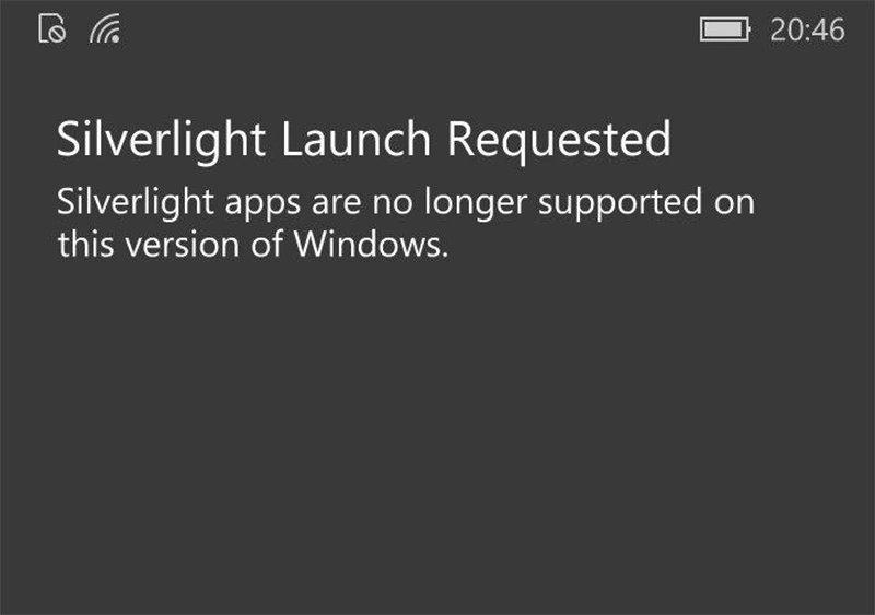 Microsoft finalizará el soporte de aplicaciones Silverlight en nueva versión de Windows 10 para móviles