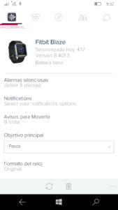 Llegan las notificaciones a Fitbit para los usuarios de Windows Insider