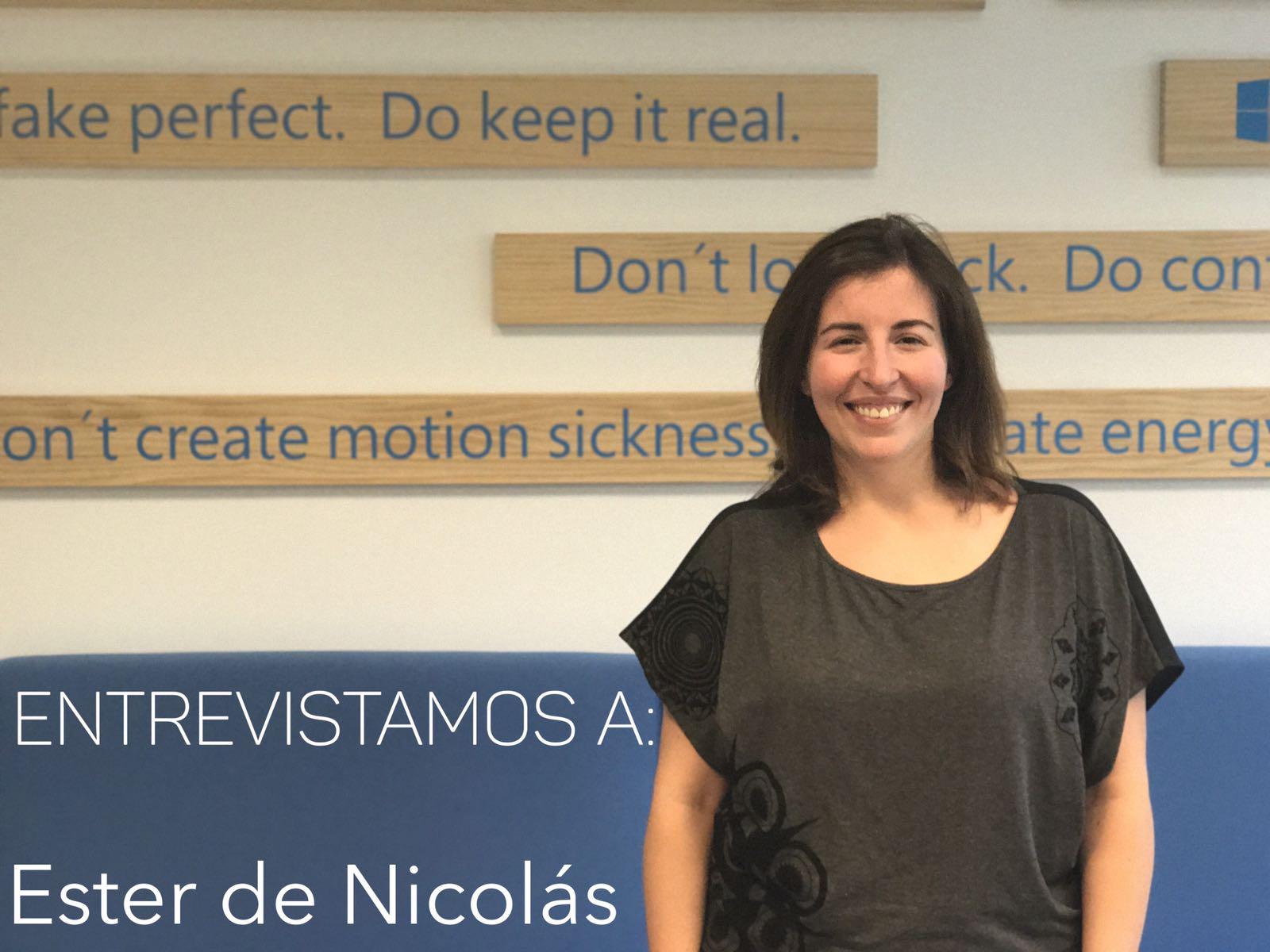 entrevista Ester de Nicolás