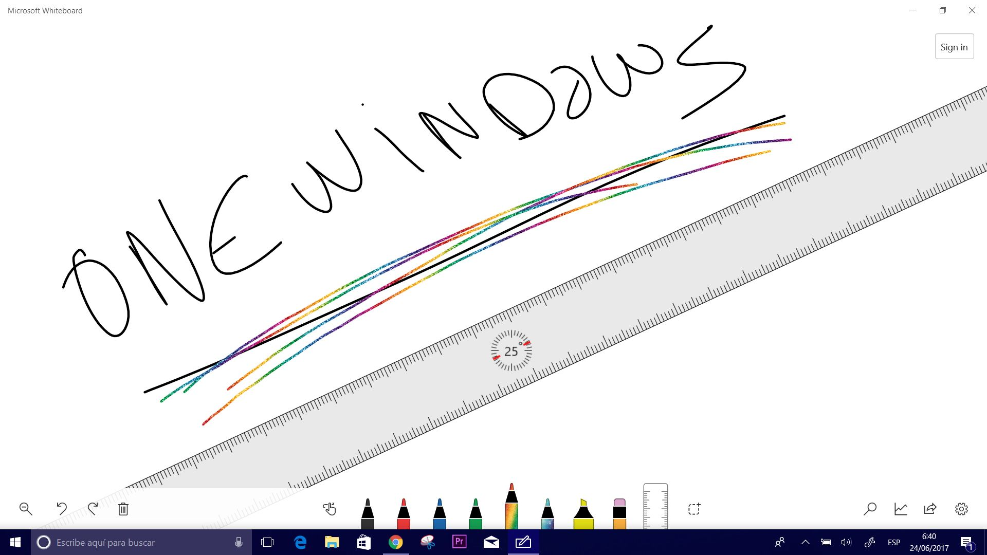 Pizarra de Microsoft