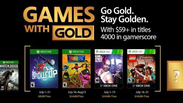 Estos serán los Games With Gold de julio para Xbox One y Xbox 360