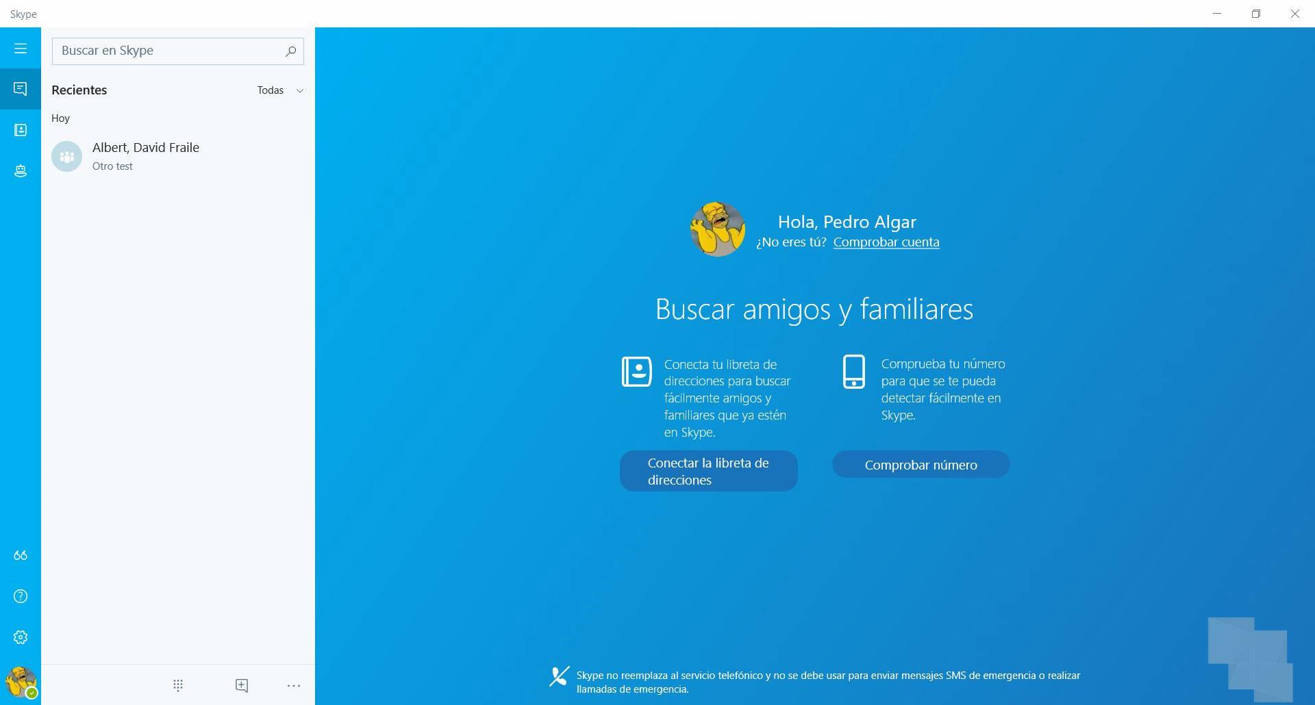 Skype se actualiza en el anillo rápido con algunos cambios
