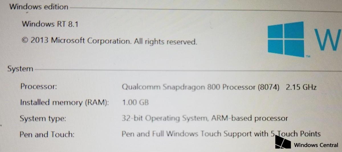 Así hubiese sido la Surface Mini, con fotos y especificaciones