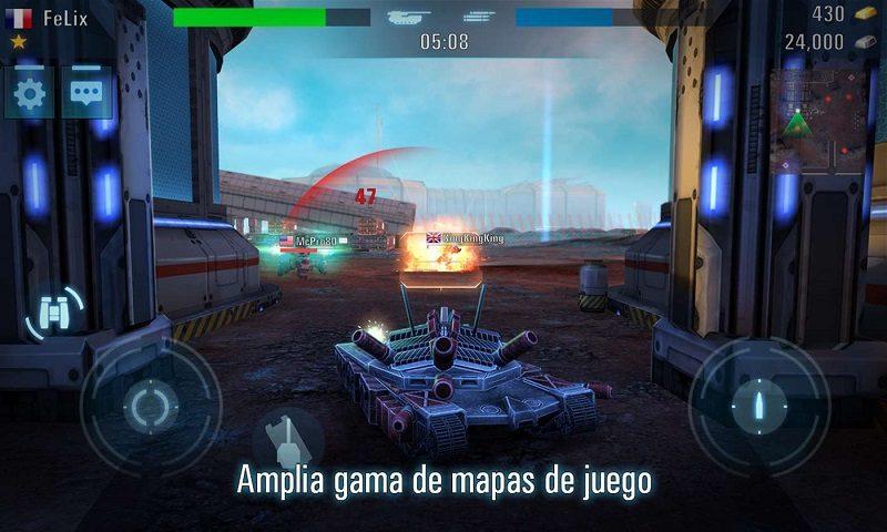 Únete a la batalla épica de Tanks VS Robots, un nuevo juego para los dispositivos Windows