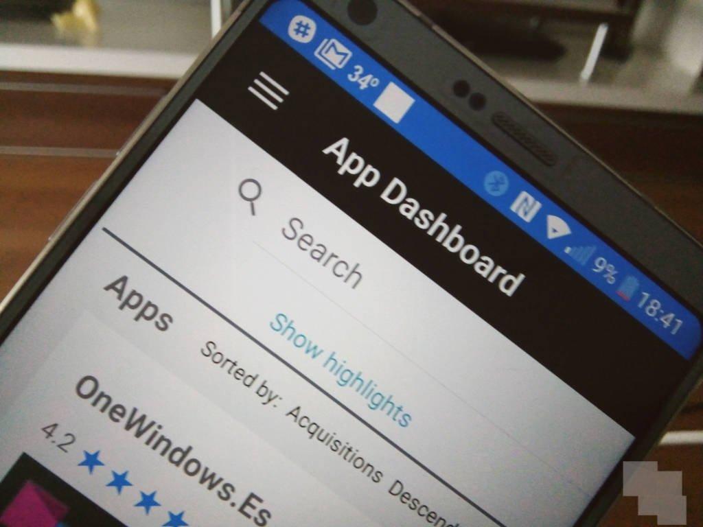 La aplicación de Windows Dev Center llega a Android como beta