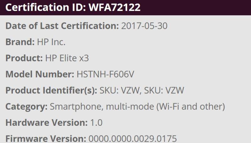 HP Elite X3 verizon