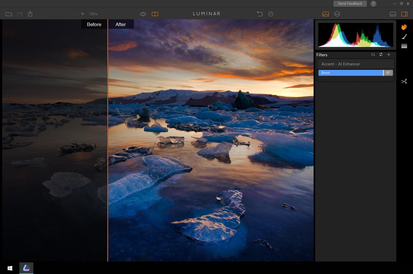 Luminar el conocido editor de fotos para Mac, disponible como beta para Windows