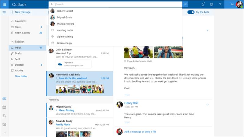 Microsoft lanza nueva experiencia Beta para Outlook.com [Pruébala ya]