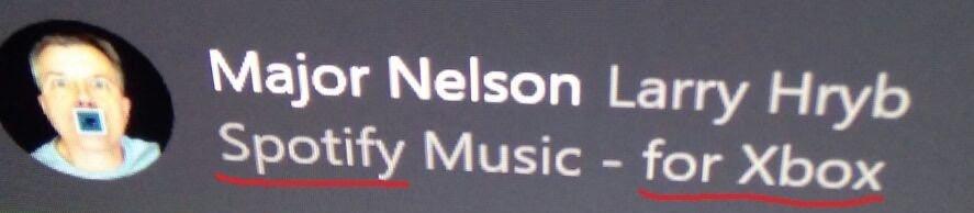 Spotify para xbox