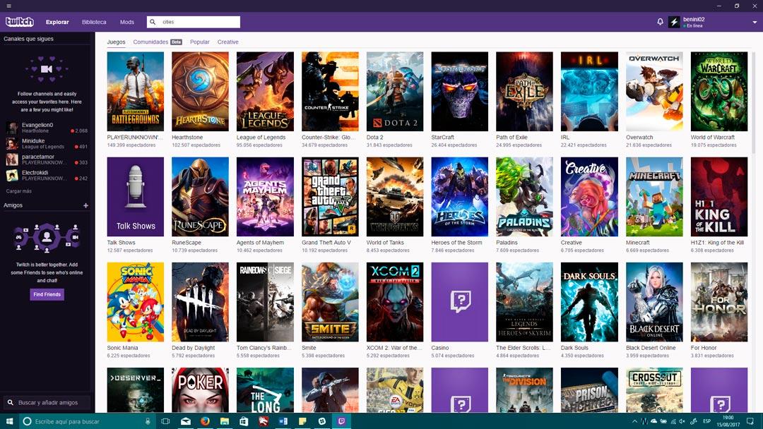 Twitch lanza su aplicación para dispositivos Windows