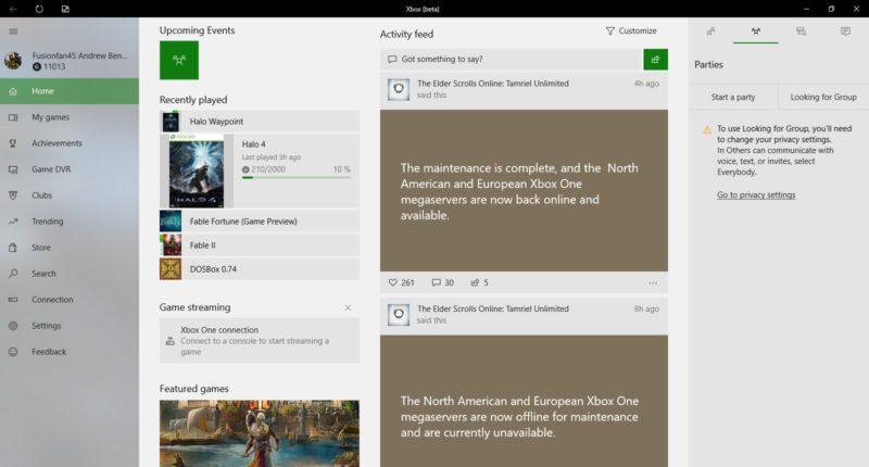 La aplicación Beta de Xbox trae nuevo tema claro y elimina los avatars en nueva actualización