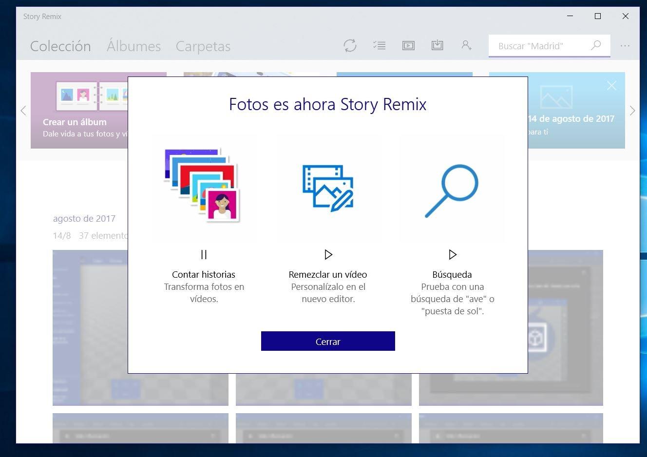 """Story Remix, el nuevo nombre de """"Microsoft Fotos"""", de momento"""