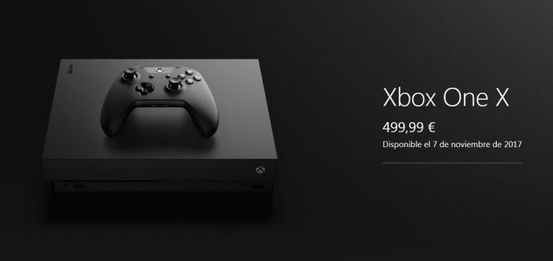En septiembre se abrirá la reserva de Xbox One X estándar