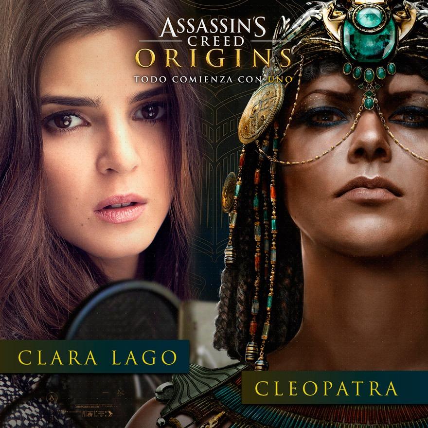 Clara Lago es la voz de Cleopatra en Assassin's Creed Origins
