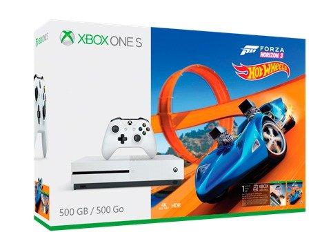 Xbox One S con Forza Horizon 3 y Hot Wheels