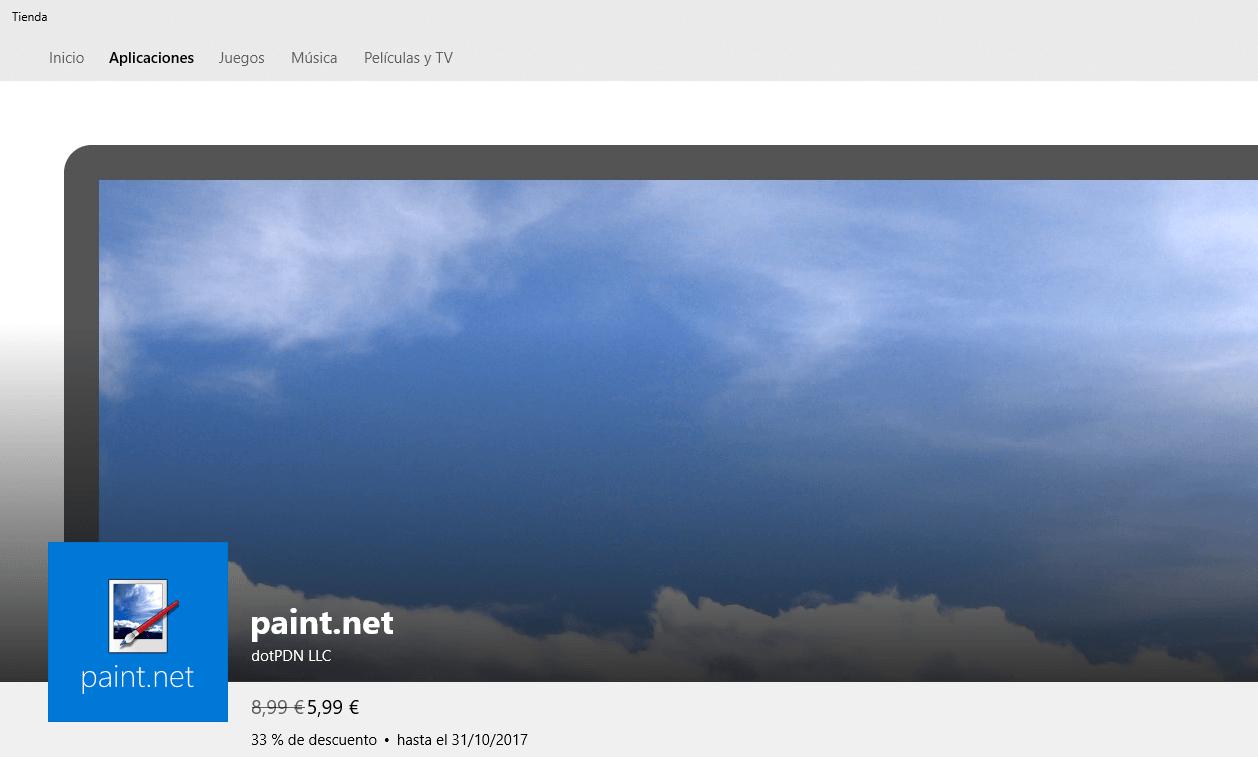 Paint.NET aterriza en la tienda de Microsoft para Windows 10