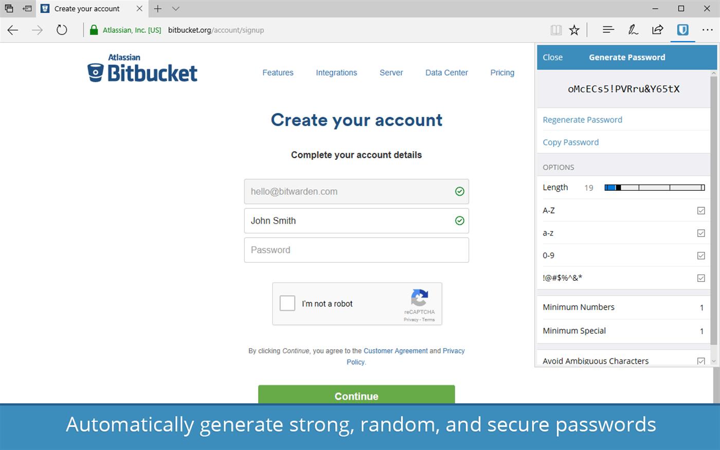 bitwarden password generator