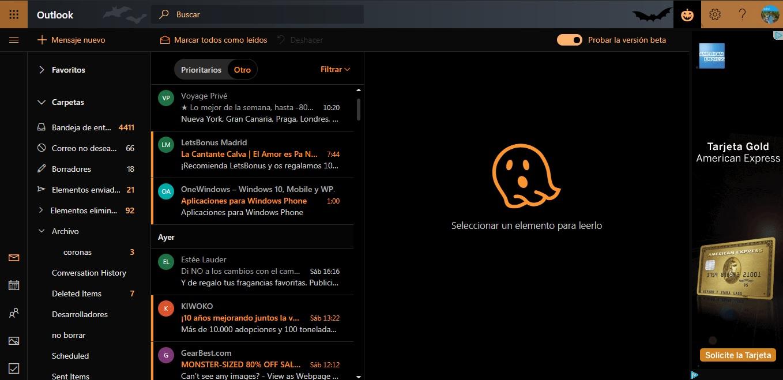 Outlook.com también contará con un modo oscuro