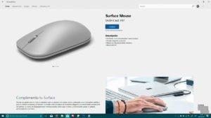 Surface Mouse a la venta en la Microsoft Store de Windows 10