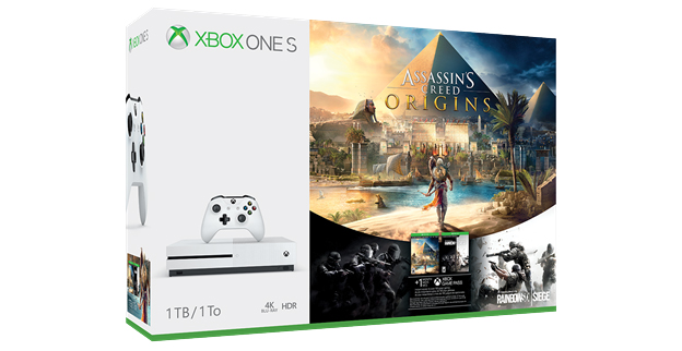 Pack de Xbox One S con Assassin's Creed Origins