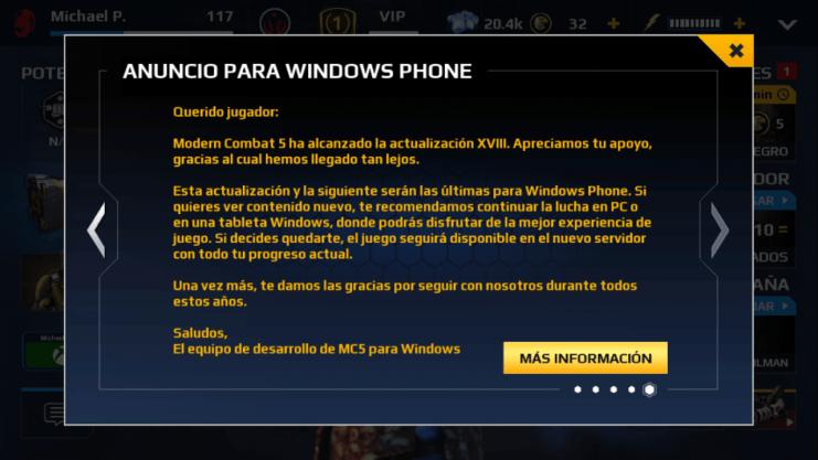 Gameloft anuncia el fin del soporte de Dungeon Hunter 5 y Sniper Fury para móviles Windows [Actualización]