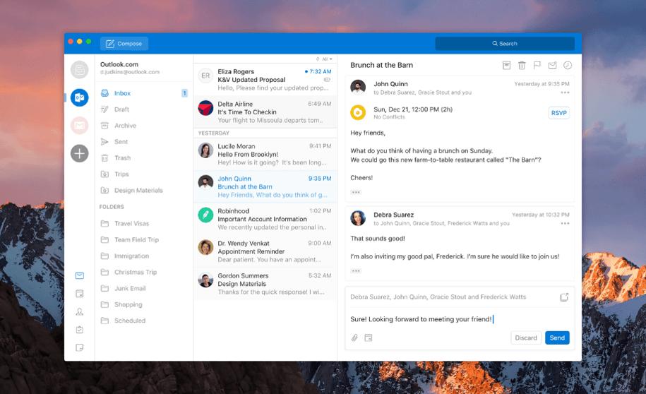 Outlook recibirá un nuevo diseño en su aplicación para escritorio en Windows y Mac