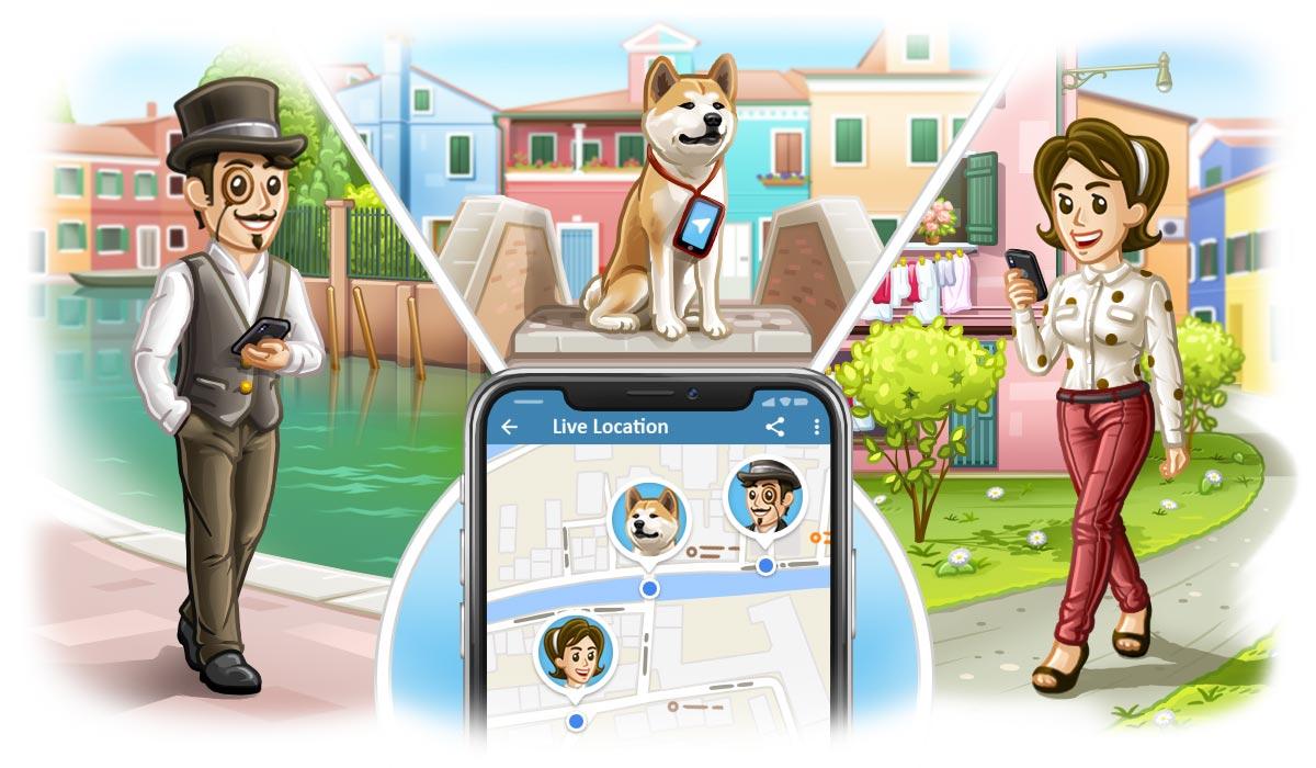 Unigram se actualiza y ya permite compartir tu ubicación en tiempo real