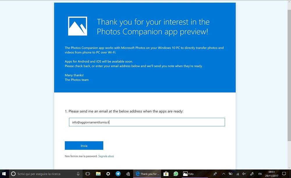 Fotos de Windows 10 contará con una aplicación compañera en Android e iOS