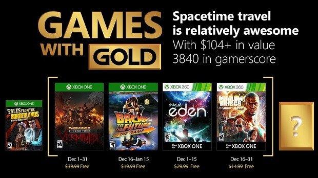 Estos son los Games With Gold para el mes de Diciembre