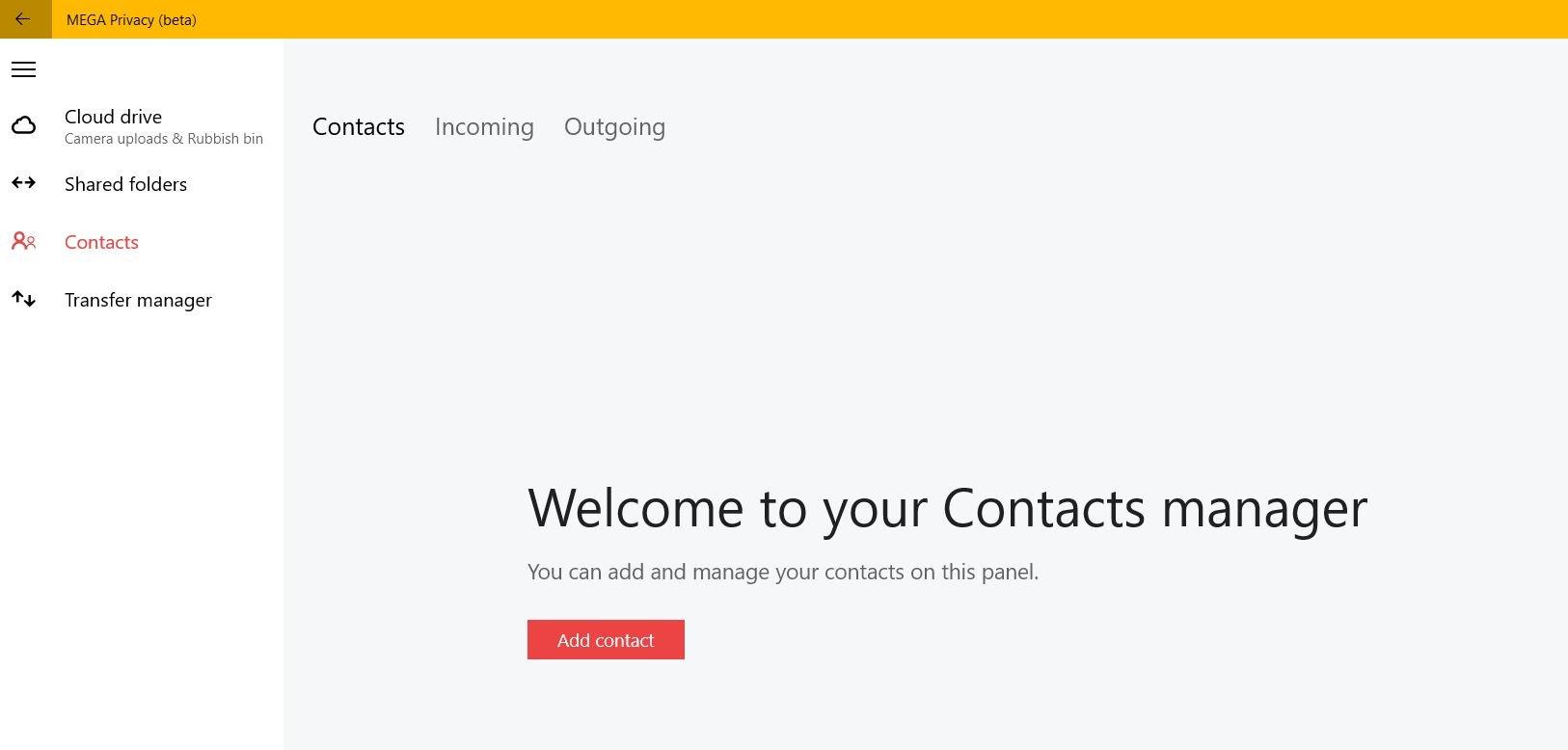 Mega Privacy se actualiza agregando contactos y las carpetas compartidas