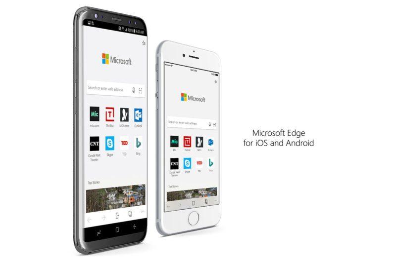 Microsoft Edge para iOS y Android recibe soporte para Windows Timeline en última actualizacion
