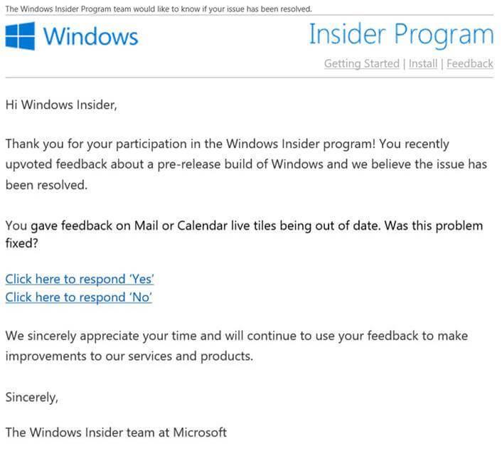 Microsoft informará a los Insiders de las novedades sobre sus feedback