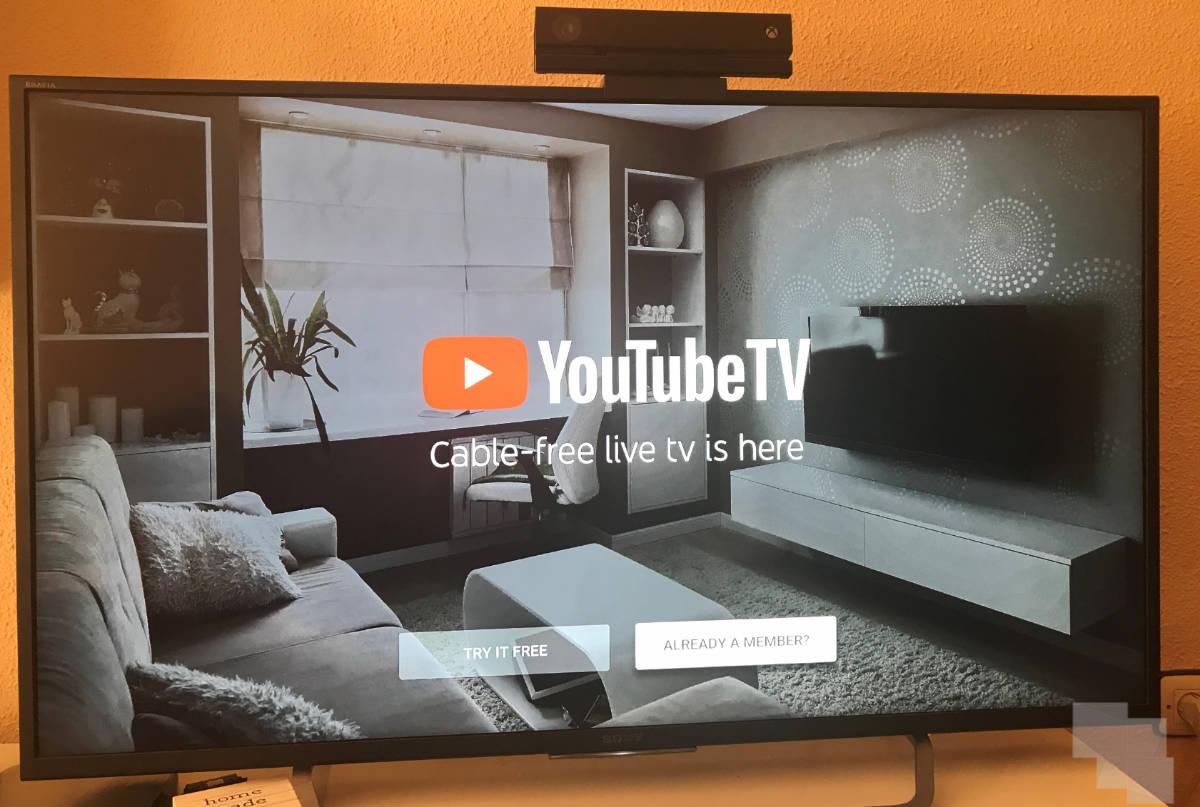 youtube TV Xbox one