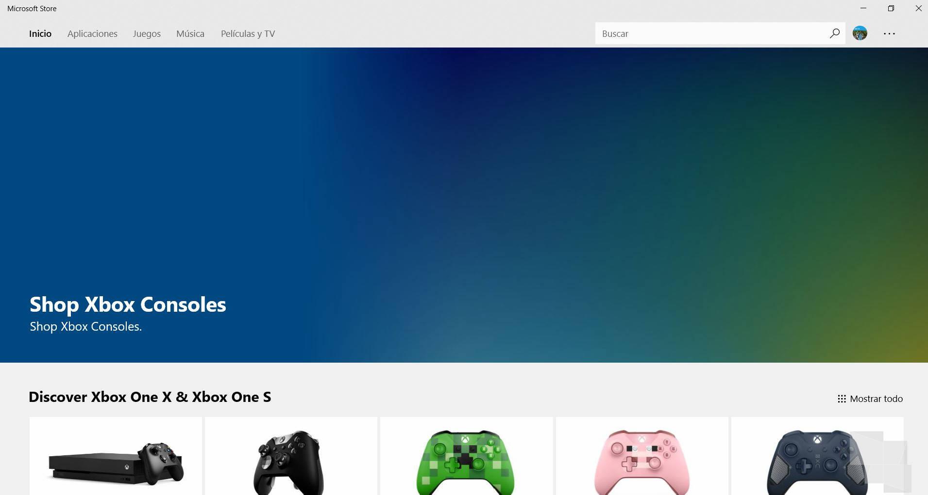 Las consolas Xbox ya tienen su apartado en la Microsoft Store de Windows 10