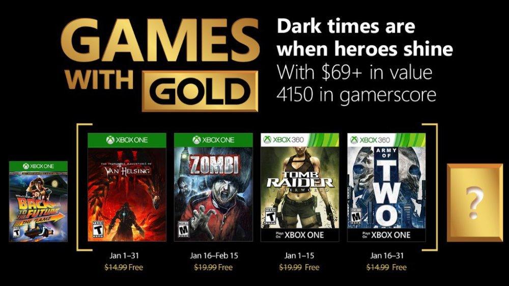 Estos serán los Games With Gold del mes de Enero