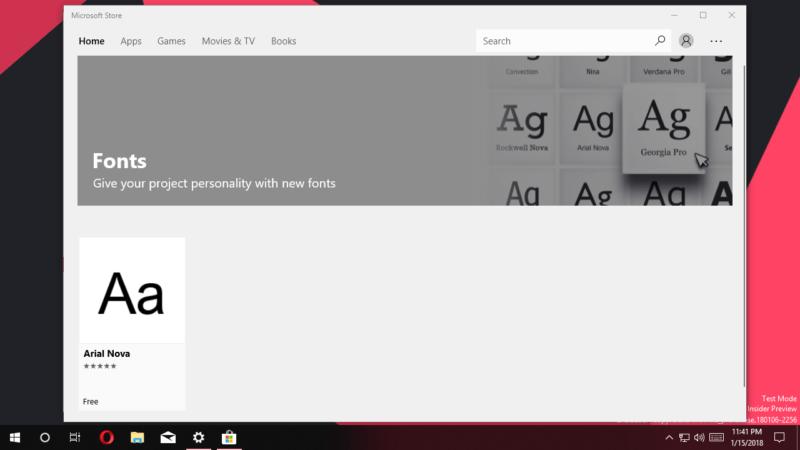 Las fuentes en Windows 10 finalmente tendrán su propio apartado en las configuraciones