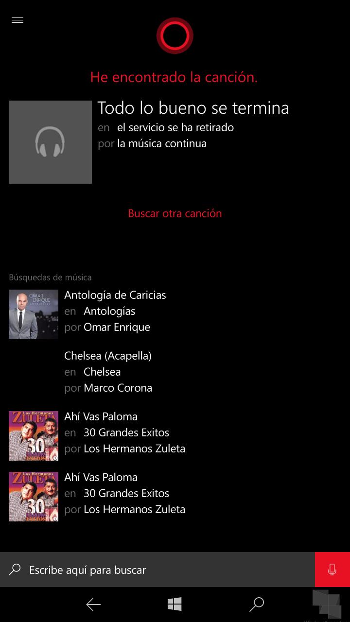 Con Groove Music Pass también se va el reconocimiento de música de Cortana