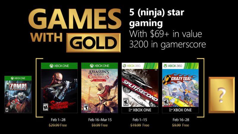 Estos son los Games With Gold para el mes de Febrero