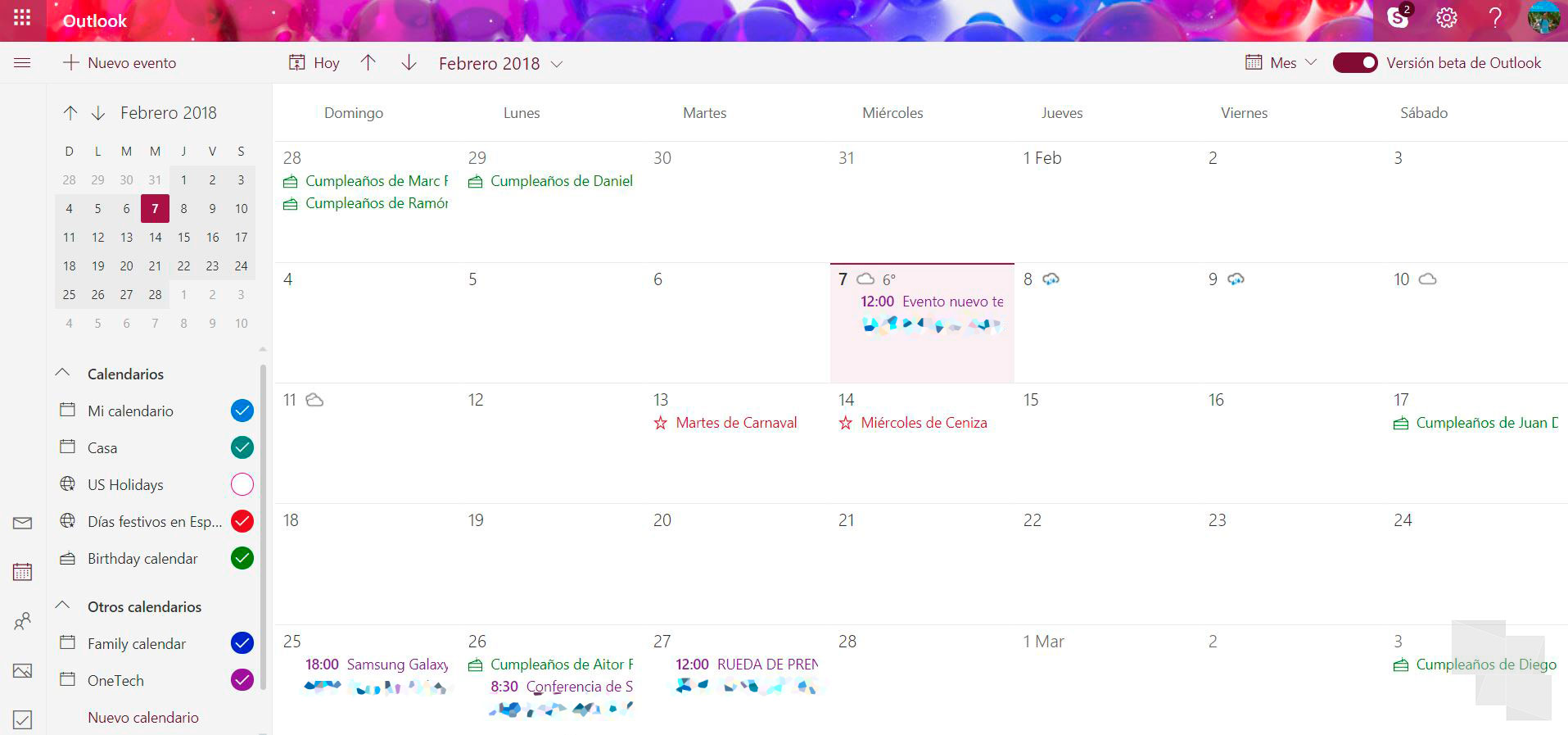 El calendario de Outlook.com ya cuenta con la opción de probar su beta